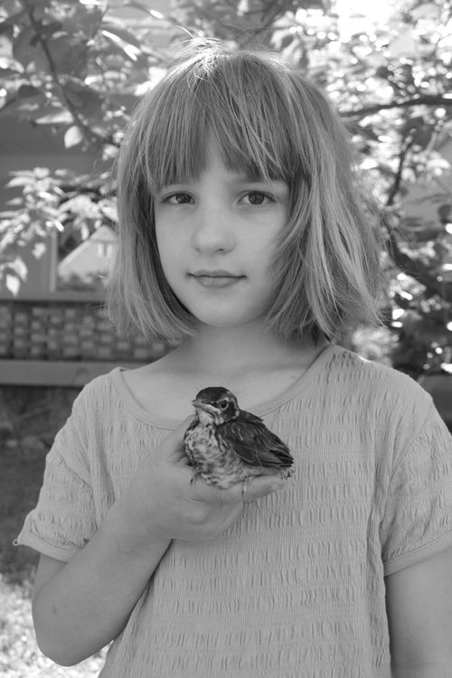 Grace with her bird 2